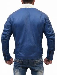 mens-asymmetrical-shearling-blue-padded-jacket
