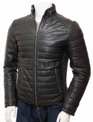 mens-black-leather-quilted-biker-jacket