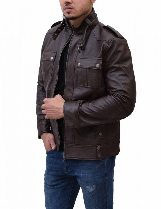 mens-slim-fitted-biker-leather-jacket