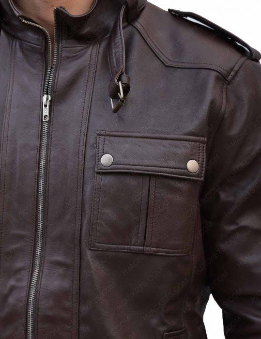 mens-slim-fitted-brown-jacket