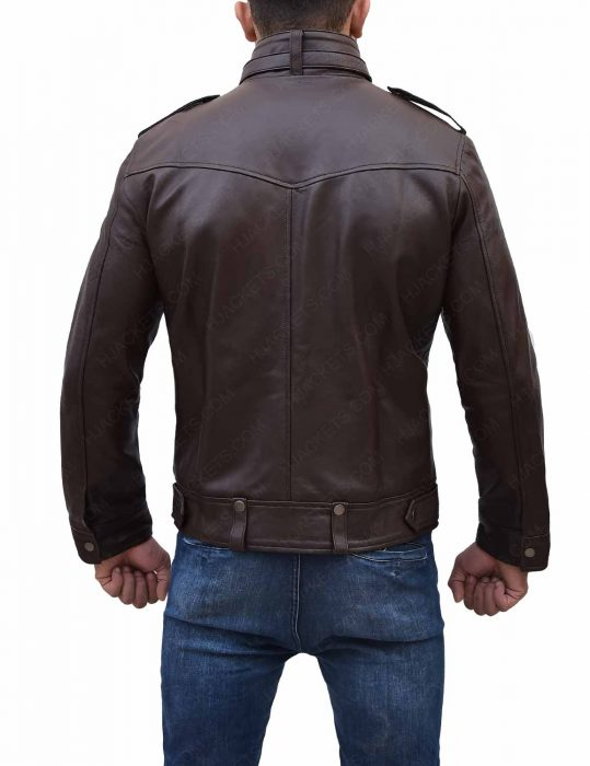 mens-slim-fitted-brown-leather-jacket