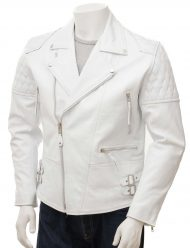 mens-white-leather-biker-jacket