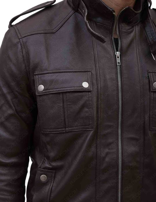 slim-fitted-brown-leather-jacket