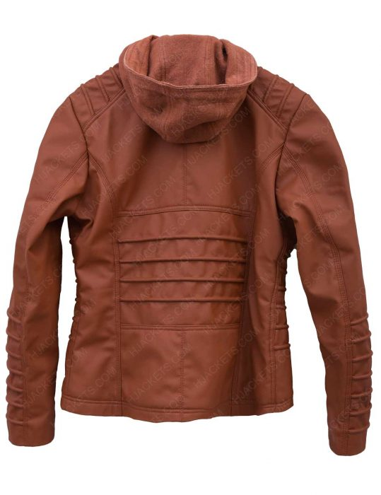womens-brown-hooded-jacket
