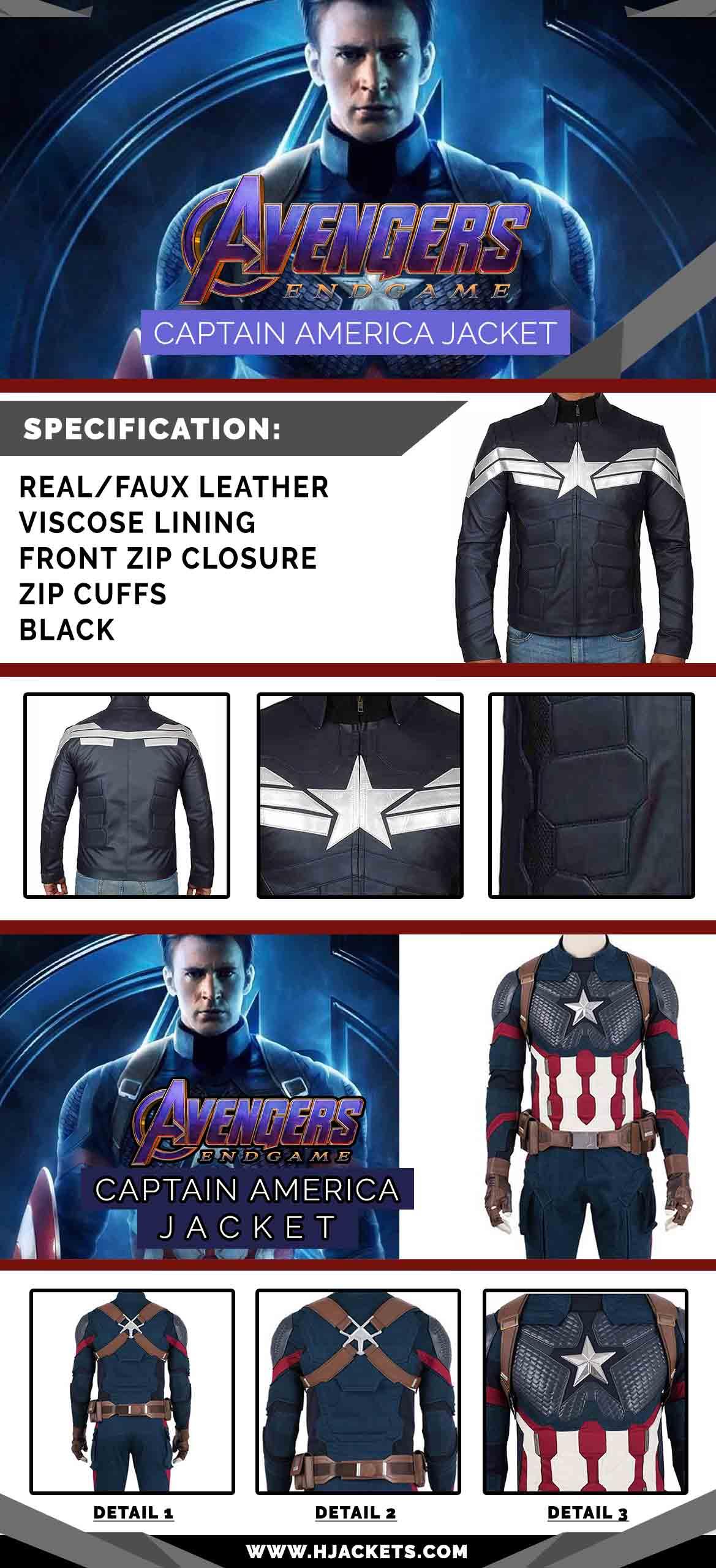 Avengers Endgame Captain America Infographic