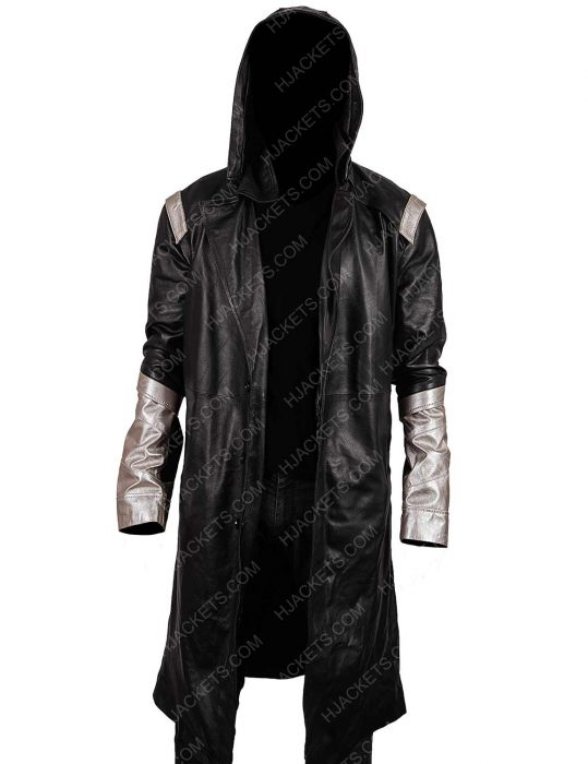 The Flash Cicada Black Leather Coat