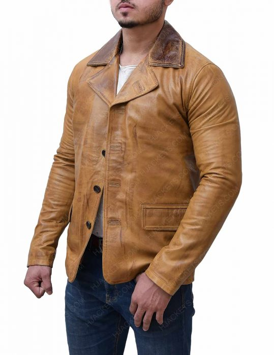 arthur morgan red dead redemption 2 brown leather distress jacket