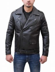 brandon-flowers-black-leather-biker-jacket