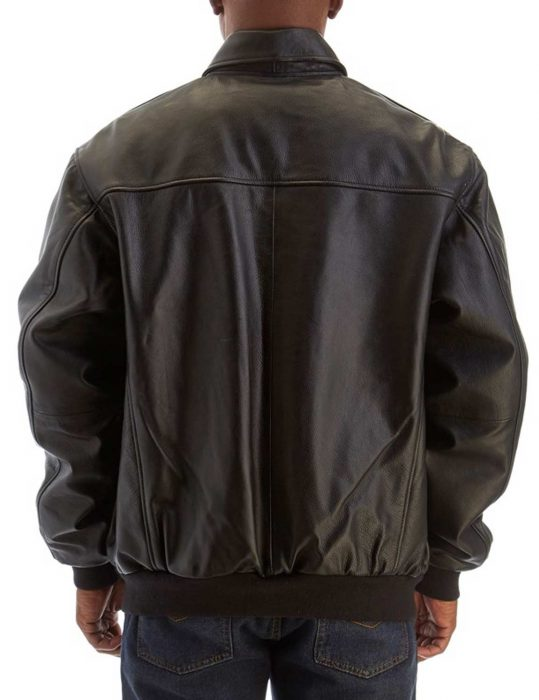 mens big and tall double leather pocket jacket