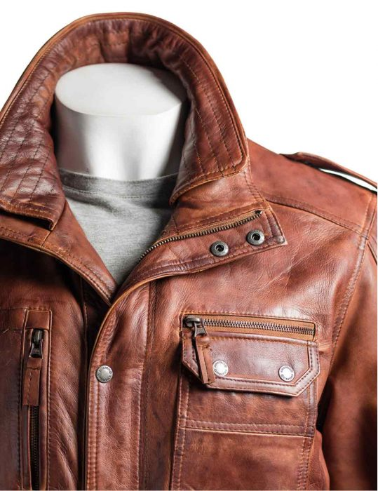 mens-collared-leather-jacket