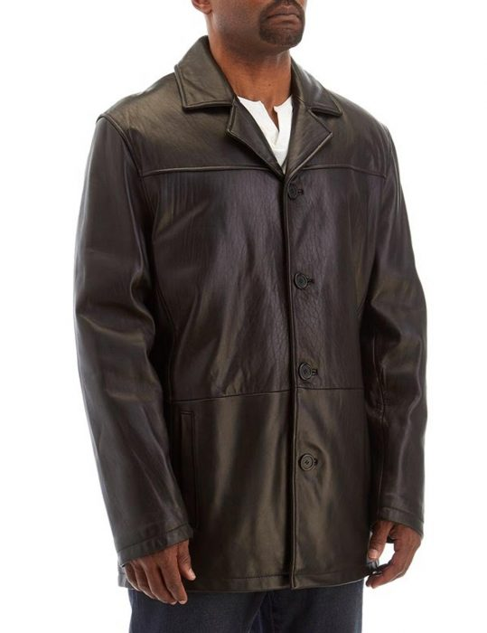 mens tall leather coat