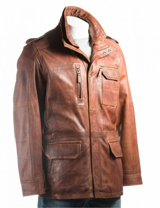 mens-tan-double-collared-leather-jacket