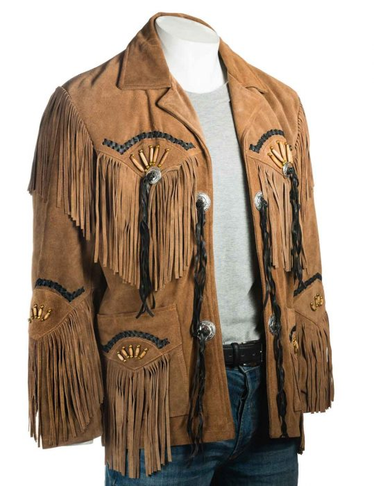 mens-tan-fringe-suede-jacket