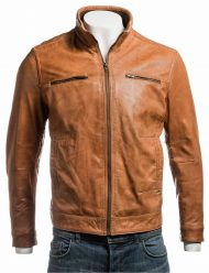 mens-tan-neck-leather-jacket