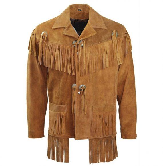 mens suede fringe leather jacket