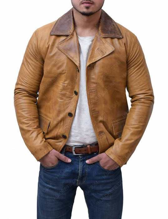 red dead redemption 2 brown leather jacket