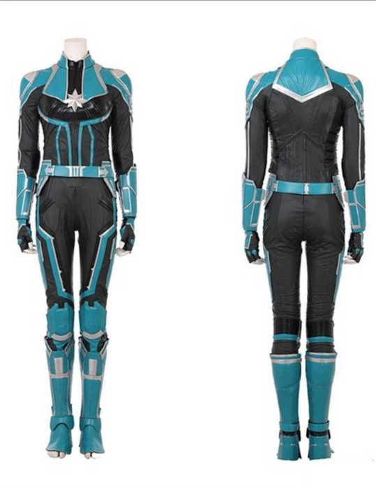 captain marvel cosplay leather suit