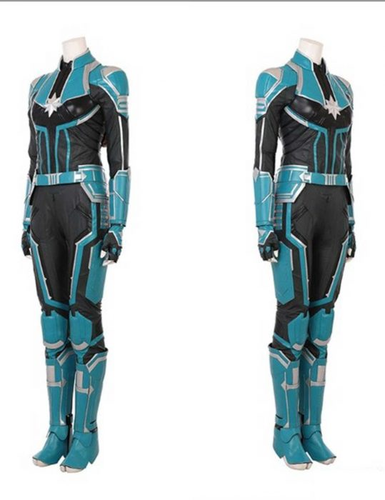 captain marvel cosplay suit