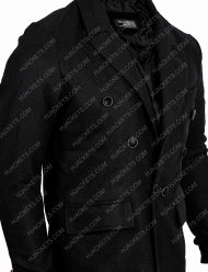 Good Omens Black Wool Coat