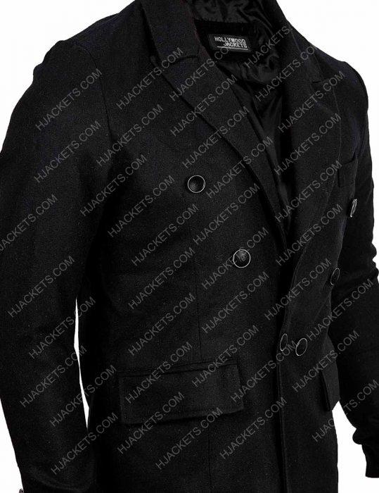 Good Omens Black Wool Coat