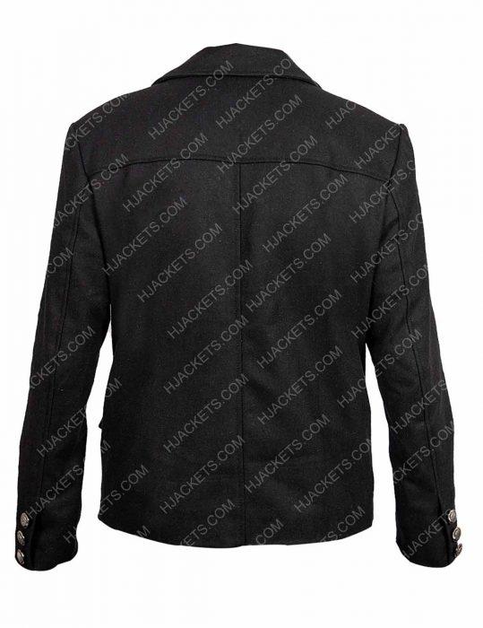 David Tennant Good Omens Black Wool Jacket