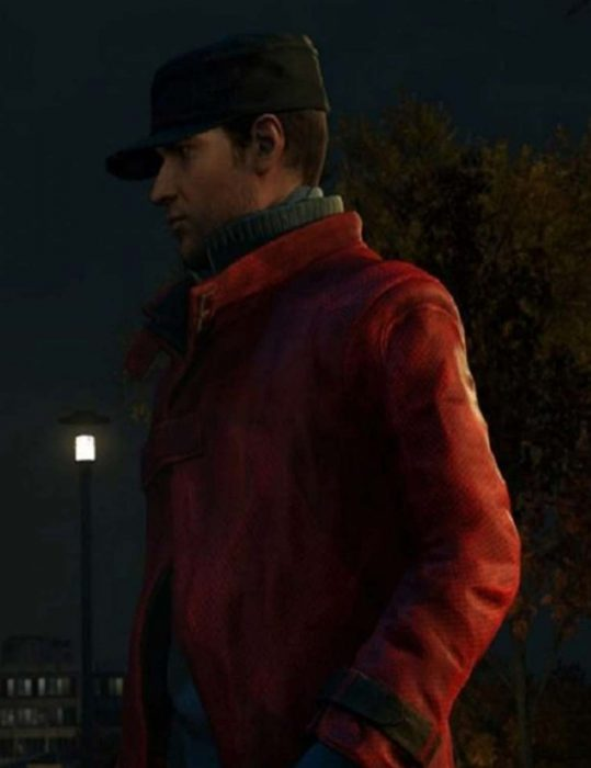Watch Dogs Aiden Pearce Red leather Coat
