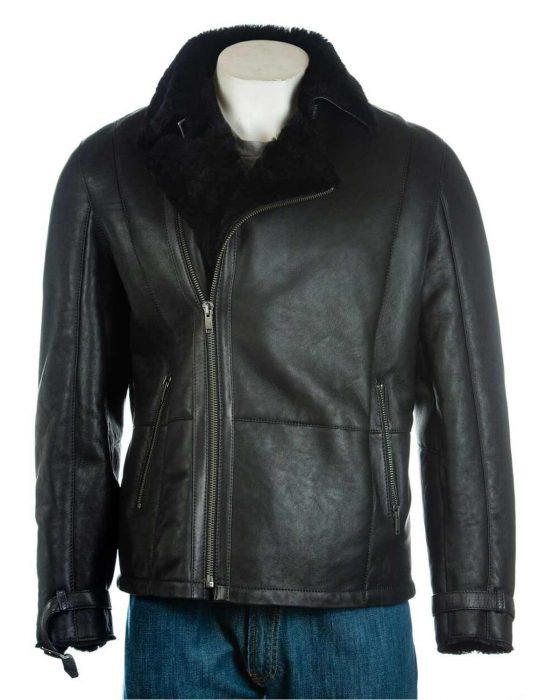 mens-shearling-sheepskin-black-leather-jacket