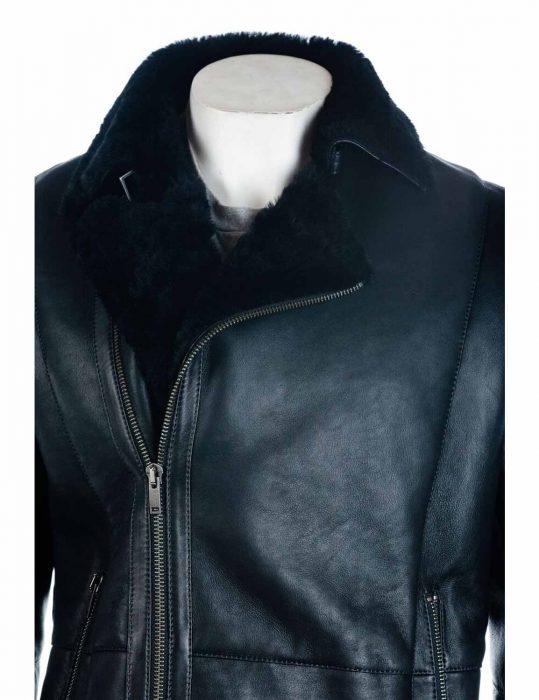 mens-sheepskin-shearling-black-jacket