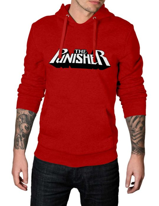 the-punisher-red-cotton hoodie