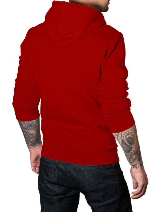 the-punisher-red-cotton hoodie-back