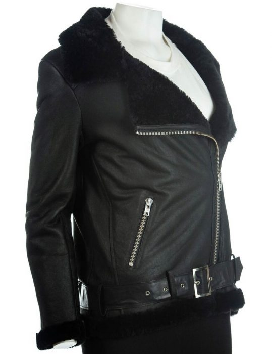 womens-black-sheepskin-jacket