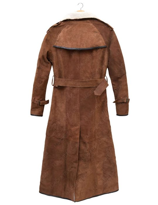 womens-brown-suede-double-breasted-coat