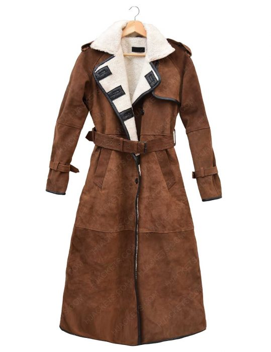 womens-brown-suede-double-breasted-leather-coat