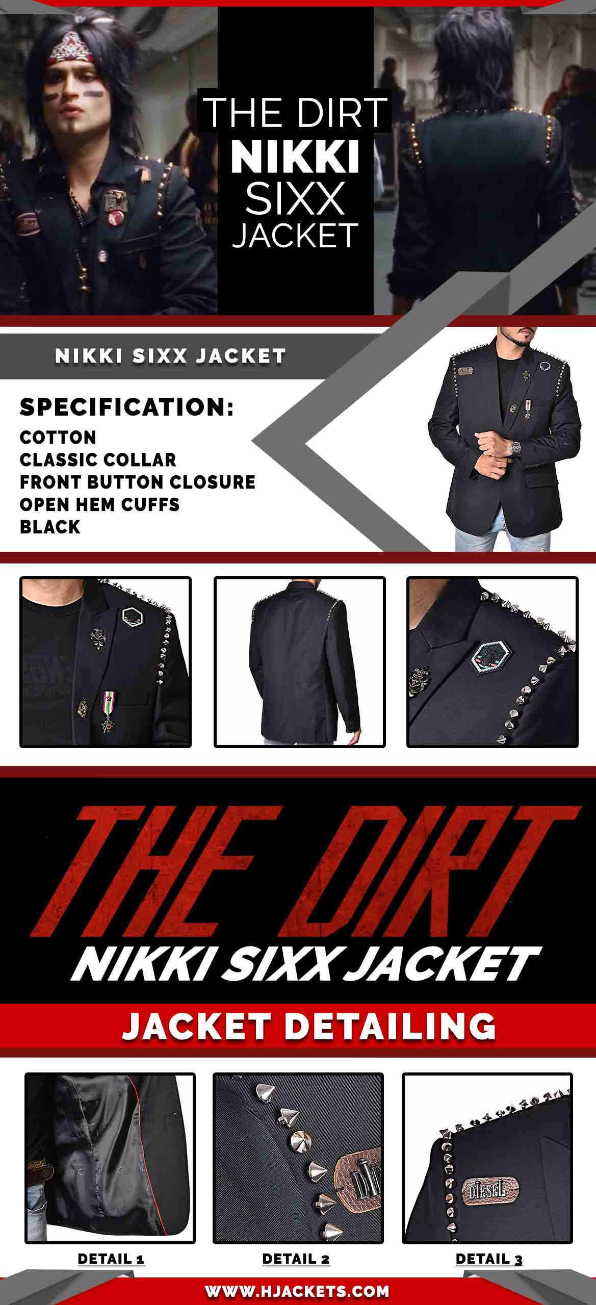 the dirt nikki sixx hjacket infographic