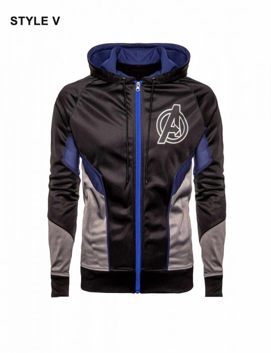 Avengers Endgame Quantum Blue Hoodie