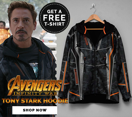 Avengers Infinity WarTony stark hoodie Front Banner