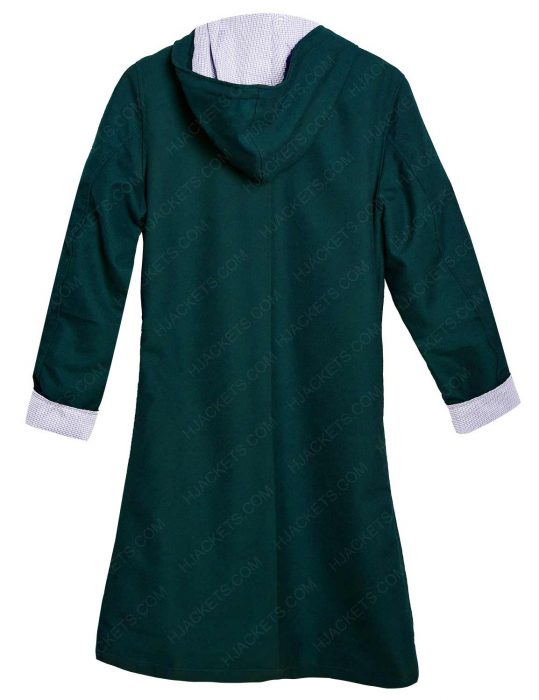 Jenna Coleman Doctor Who S8E12 Clara Oswald Green Hooded Cotton Jacket