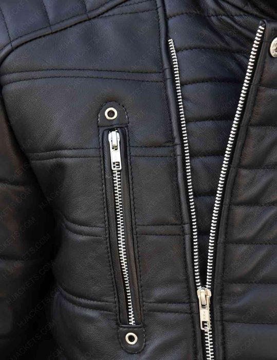 Trevor 'Viking' Calcote Cold Pursuit Tom Bateman Leather Jacket