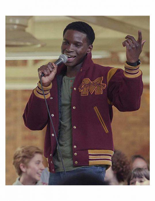 Kedar Williams-Stirling Sex Education Jackson Marchetti Letterman Jacket
