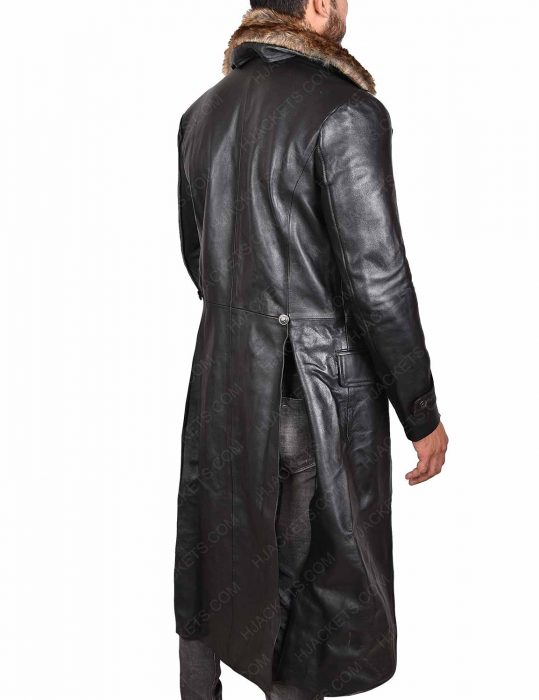 Shazam Doctor Sivana Leather Fur Collar Coat