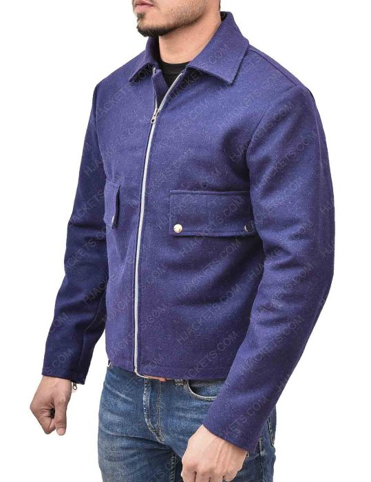 Spectre James Bond Daniel Craig Lake Blue Wool Jacket