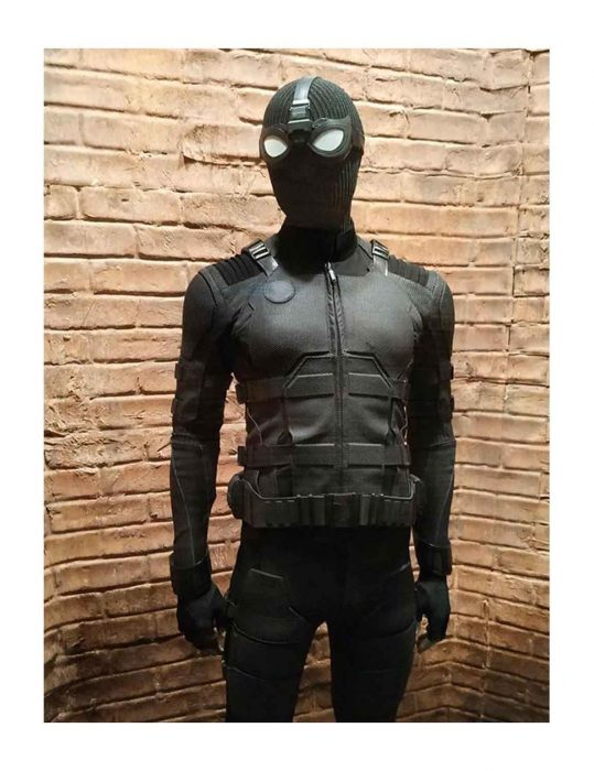 Spider Man Far From Home Peter Parker Black Costume