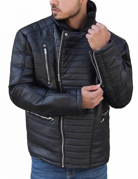 Pursuit Tom Bateman Black Leather Jacket