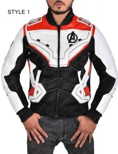 avengers endgame quantum realm white and red jacket