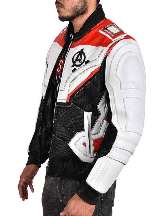 avengers endgame quantum realm white leather jacket