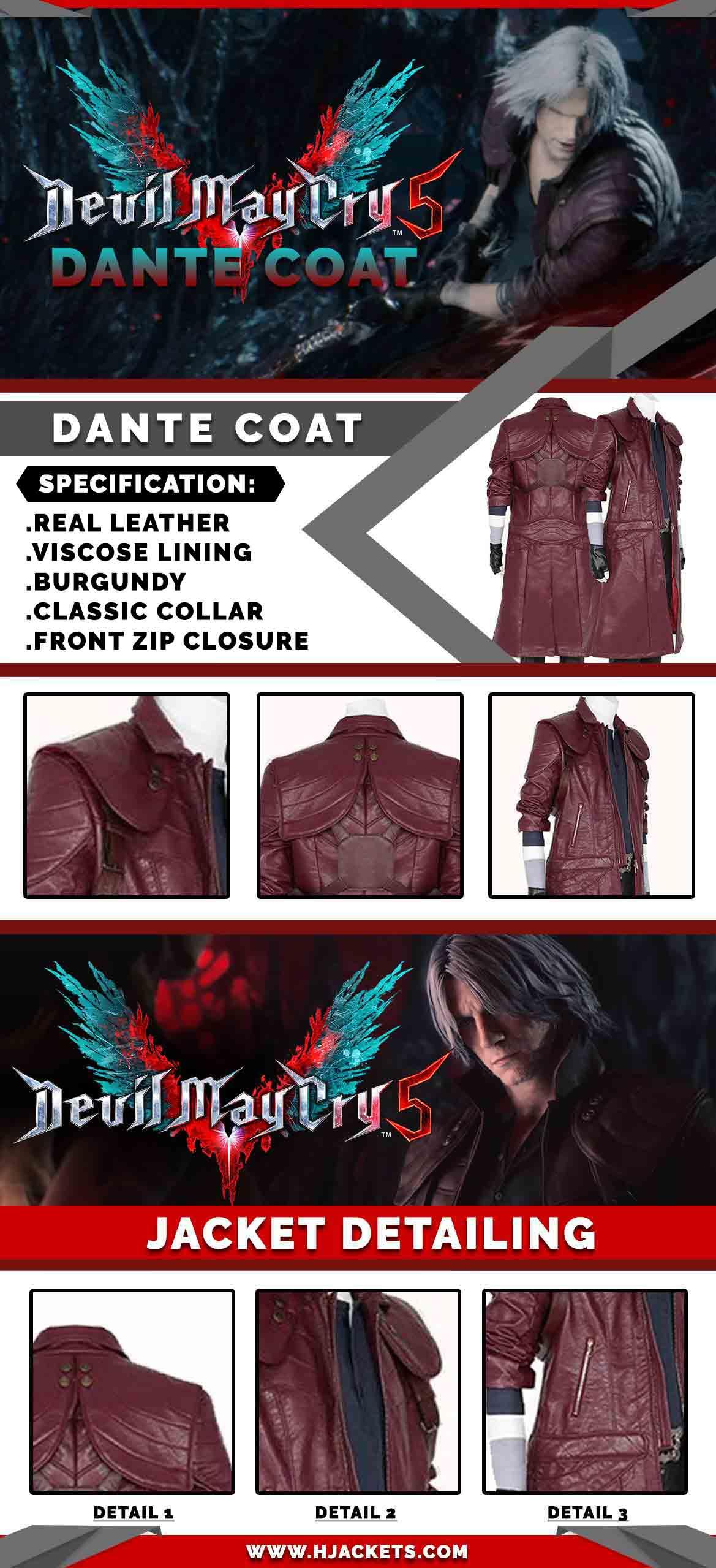 dante coat Infogrphic