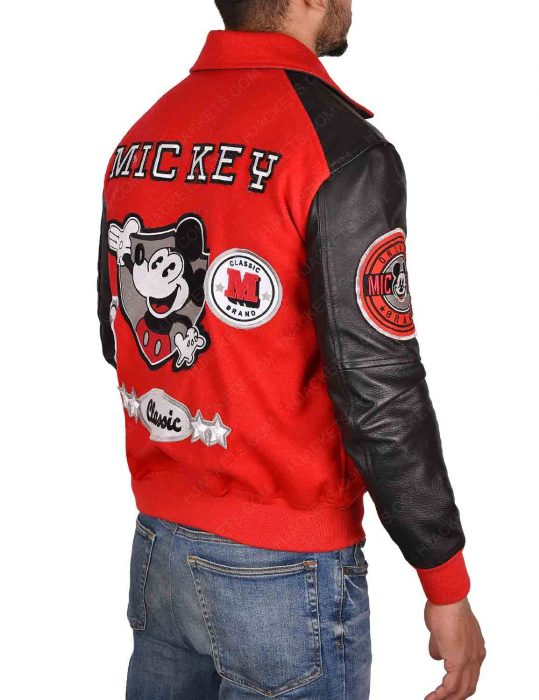 mickey-mouse-michael-jackson-letterman-red-and-black-jacket