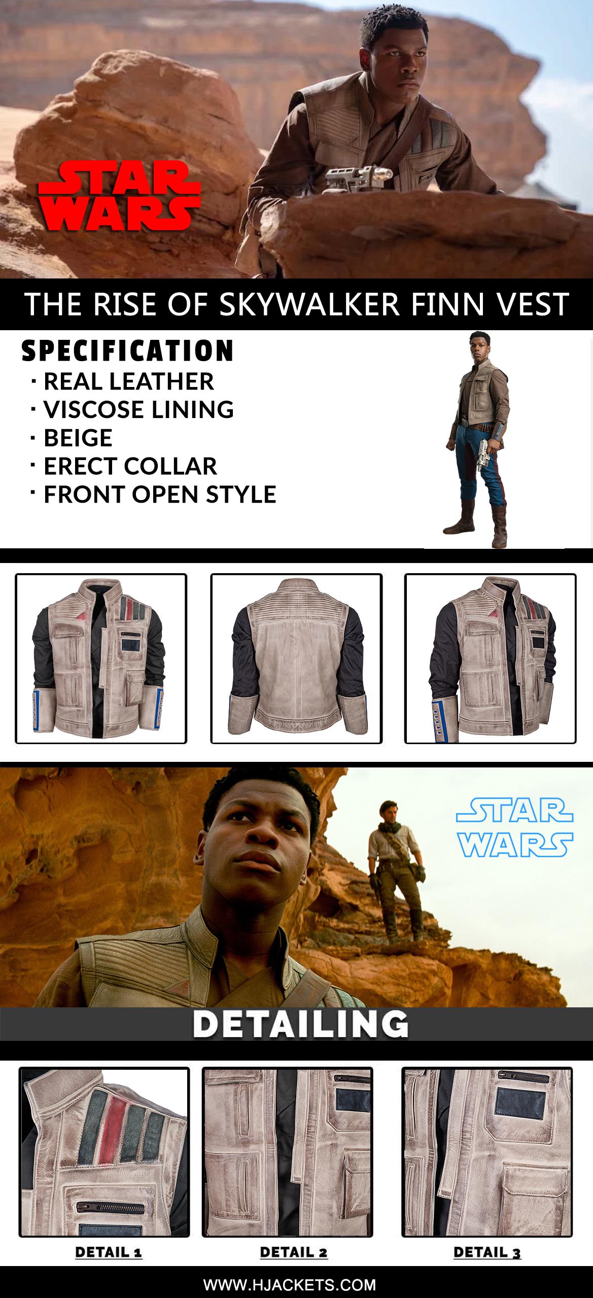 Star Wars The Rise Of Skywalker Finn Vest Infographic