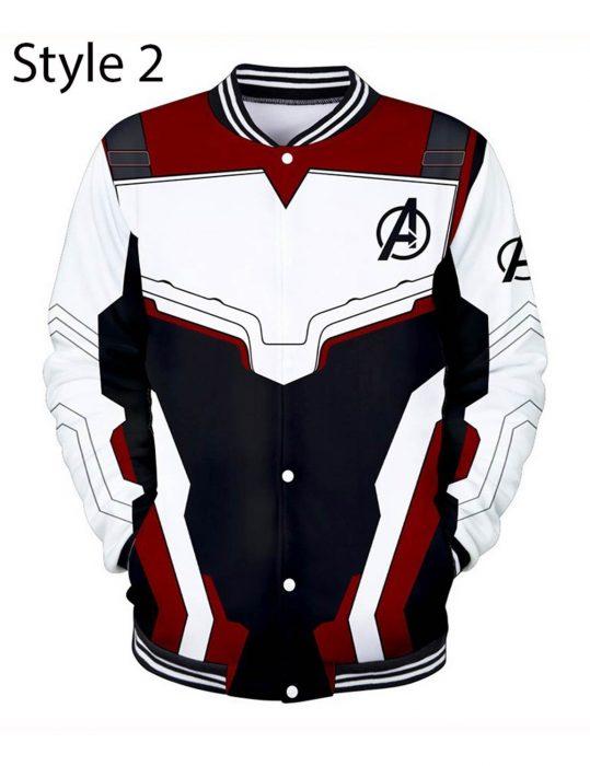 avengers endgame quantum realm varsity jacket