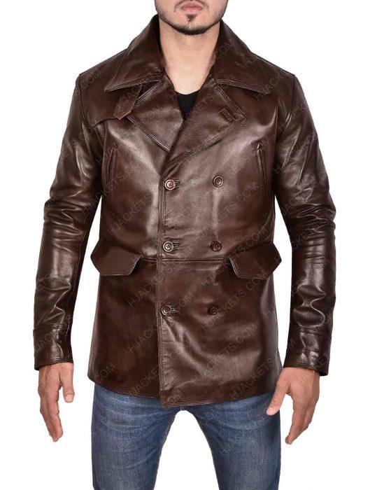 brad pitt inglourious basterds brown jacket